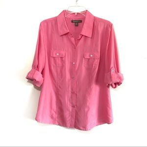 Tommy Bahama 100% Silk button front top